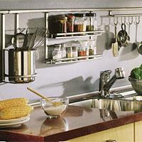 Аксессуары для кухонных ниш (рейлинги). Программа Linero - 2000