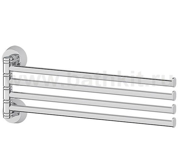 Держатель полотенец поворотный четверной 37 см (хром)