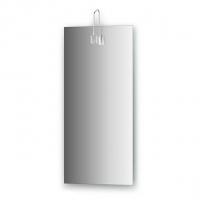 Зеркало со светильником, хром (35х75 см)