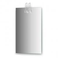 Зеркало со светильниками (хром, 45х75 см)