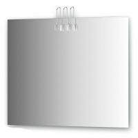 Зеркало со светильниками, хром (90х75 см)