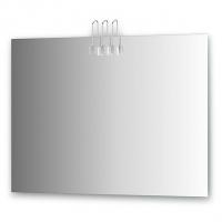 Зеркало со светильниками (хром 100х75 см)