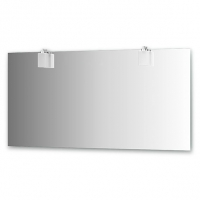 Зеркало со светильниками (хром, 150х75 см)