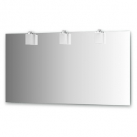 Зеркало со светильниками (140х75 см, хром)