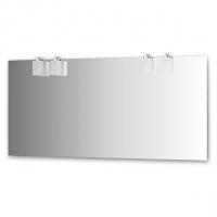 Зеркало со светильниками (160х75 см, хром)