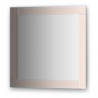 Зеркало с зеркальным обрамлением, цвет хром (60х60 см)