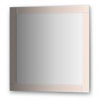Зеркало с зеркальным обрамлением, цвет хром  (70х70 см)