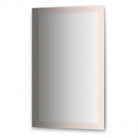 Зеркало с зеркальным обрамлением, хром (70х110 см)