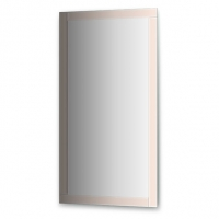 Зеркало с зеркальным обрамлением, цвет хром  (70х130 см)