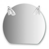 Зеркало со светильниками (80х70 см)