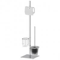Стойка с 3-мя аксессуарами для туалета 72 cm (матовый хрусталь; хром)