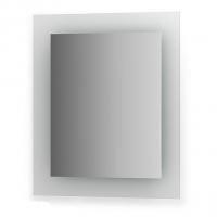 Зеркало со встроенными светильниками (60х70 см, хром)