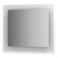 Зеркало со встроенными светильниками (80х70 см, хром)