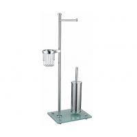 Напольная стойка, прямоугольник  (2 держателя т/б: с крышкой и без крышки, ерш напольный металл, держатель освежителя)