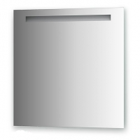 Зеркало со встроенным светильником (70х70 см, хром)