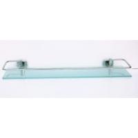 Полка стеклянная 50 см с ограничителем