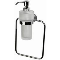 Кольцо для полотенца с дозатором для жидкого мыла стеклянным