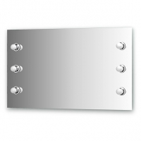 Зеркало со светильниками (100х60 см)