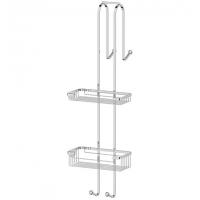 Штанга с полочками-решетками для душевой кабины (хром)