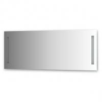 Зеркало со встроенными светильниками (140х55 см, хром)
