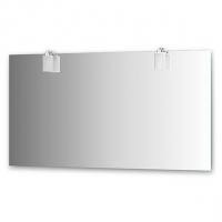 Зеркало со светильниками, хром (140х75 см)