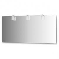 Зеркало со светильниками, хром (160х75 см)