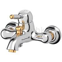 Смеситель для ванной Ponsi Stilmar (хром/золото) - фото