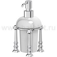 Емкость для жидкого мыла настольная (фарфор) 3SC Stilmar (хром) - фото