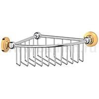 Полочка-решетка угловая 23 см 3SC Stilmar (хром/золото) - фото