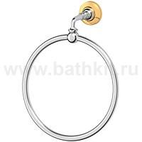 Кольцо для полотенца 3SC Stilmar (хром/золото) - фото