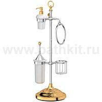 Стойка комбинированная для биде и туалета 3SC Stilmar (хром/золото) - фото