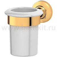 Держатель со стаканом (фарфор) 3SC Stilmar (золото) - фото