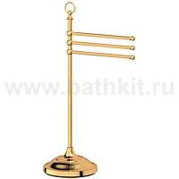 Стойка с держателем полотенец 3SC Stilmar (золото) - фото