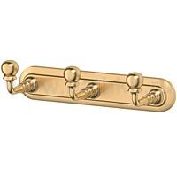 Планка с тремя крючками 3SC Stilmar (матовое золото) - фото