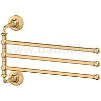 Держатель полотенец поворотный тройной 35 см 3SC Stilmar (матовое золото) - фото