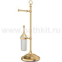 Стойка комбинированная для туалета 3SC Stilmar (матовое золото) - фото