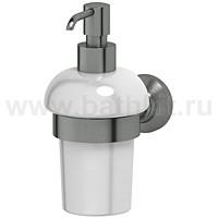 Держатель с емкостью для жидкого мыла 3SC Stilmar (Античное серебро, фарфор) - фото