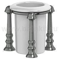 Стакан настольный (фарфор) 3SC Stilmar (античное серебро) - фото