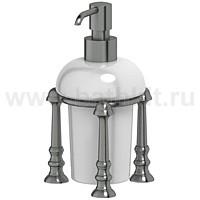 Емкость для жидкого мыла настольная (фарфор) 3SC Stilmar (античное серебро) - фото