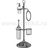 Стойка комбинированная для биде и туалета 3SC Stilmar (античное серебро) - фото