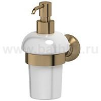 Держатель с емкостью для жидкого мыла (фарфор) 3SC Stilmar (античная бронза) - фото