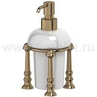 Емкость для жидкого мыла настольная (фарфор) 3SC Stilmar (античная бронза) - фото