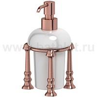 Емкость для жидкого мыла настольная (фарфор) 3SC Stilmar (античная медь) - фото