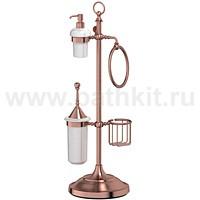 Стойка комбинированная для биде и туалета 3SC Stilmar (античная медь) - фото