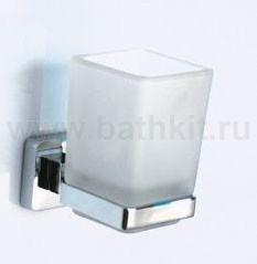 Держатель одинарный + стакан квадратный Rainbowl Cube - фото