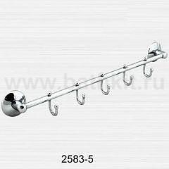 Полотенцедержатель трубчатый на пять крючков Rainbowl Otel - фото