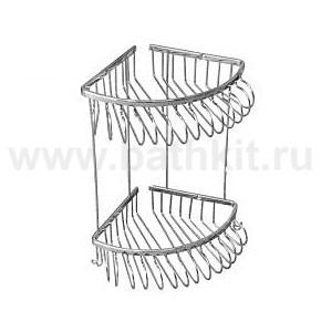 Полка решетка Hestia Хром угловая двойная - фото