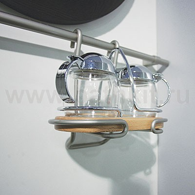 Держатель подвесной для масла и уксуса Lemi Классика (хром матовый) - фото