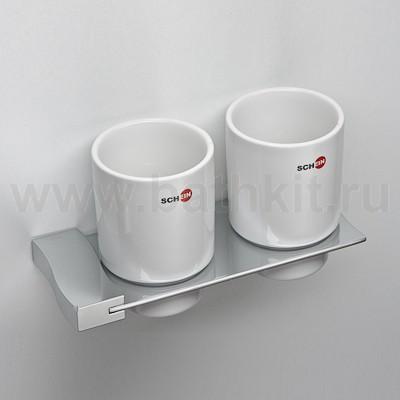 Стакан керамика двойной к стене Schein Swing - фото