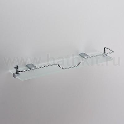 Полка стеклянная с фигурным ограничителем Schein Swing - фото